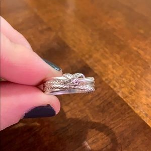 David Yurman X Ring with Diamonds!